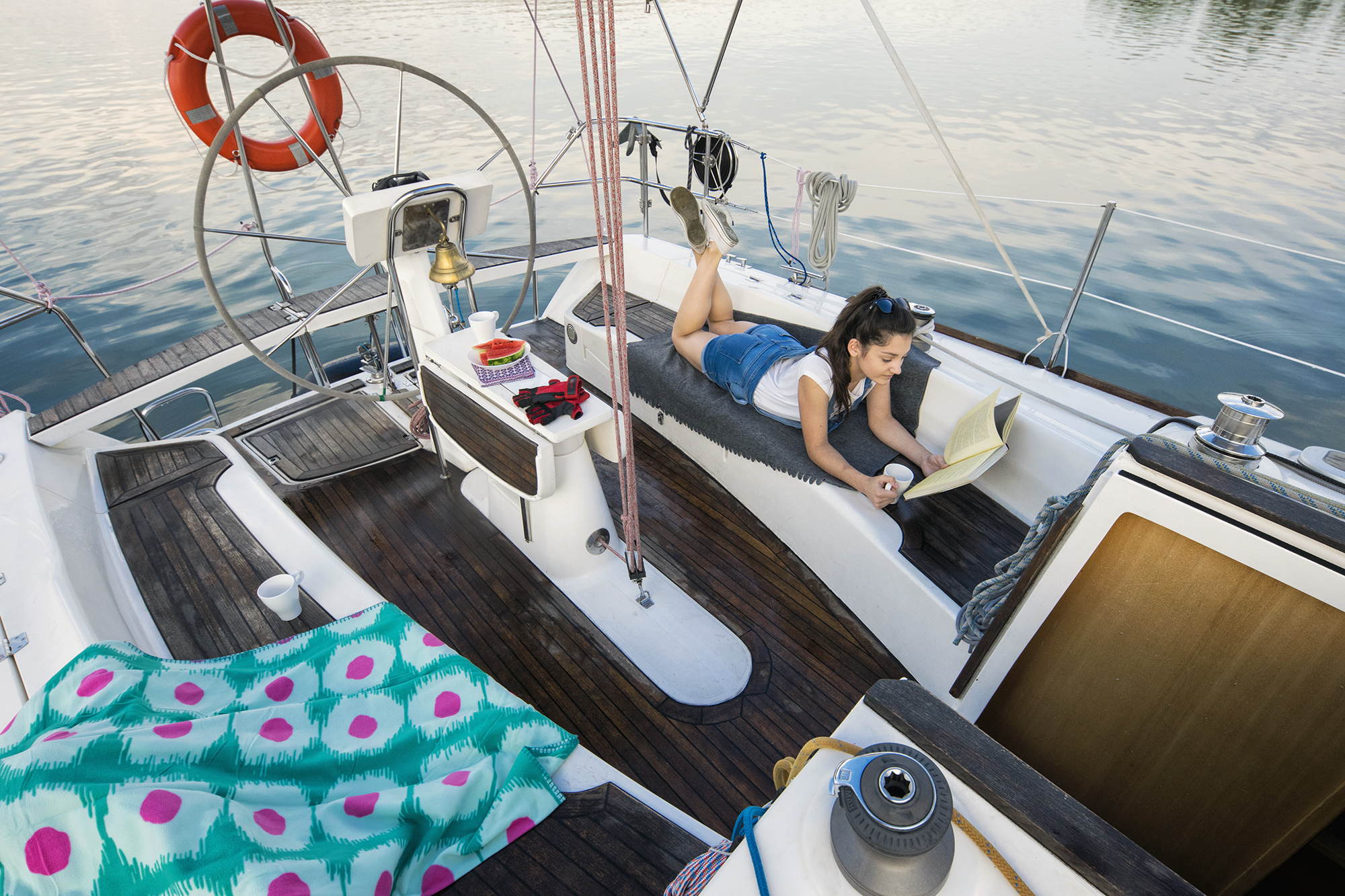 billyby парусная яхта Полундра кокпит